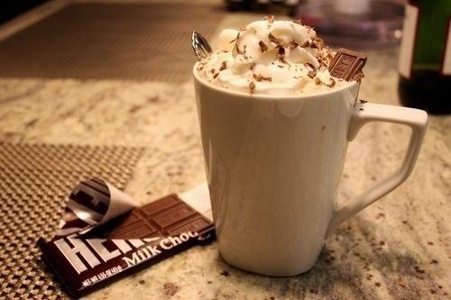 enjoy it! hershey's and coffee!