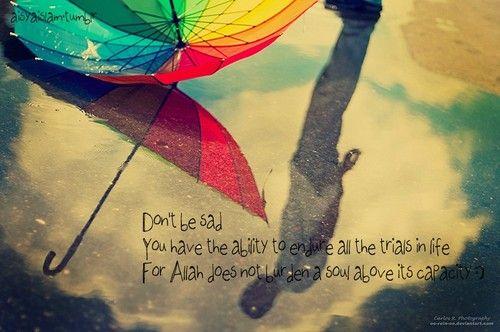 Don't be sad; La Tahzan