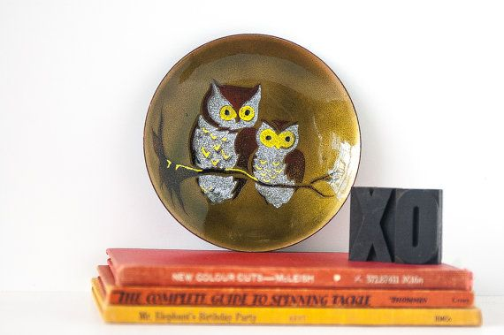 Owl You Need Is Love Vintage Bovano Copper Enamel by Haus1215