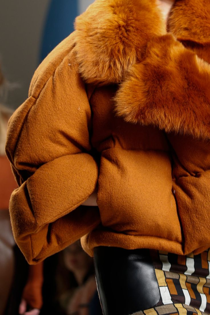 Fall winter 2015 trends - FUR ON EVERYTHING (on puffer jackets). Fendi FW 2015/16 collection.