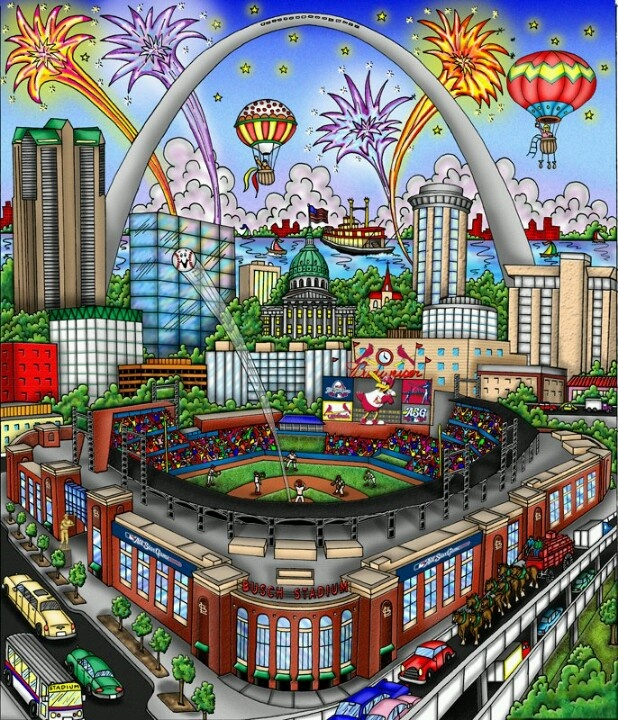 Love this poster of Busch stadium!!
