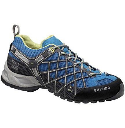 Chaussure Salewa Ws WildFire Gtx Bleu - Chaussure pour femme randonnée trail marche active et montagne - Boutique Salewa La Wildfire est conçue pour les marches d'approche techniques et offre une adhérence et une tenue parfaites dans les terrains difficiles.