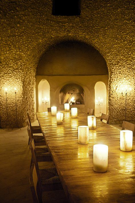 Eco Hotel In EgyptRomantic Lighting Lanterns Illuminate The Stairways To Rooms Right And Candles Brighten Indoor Dining Area
