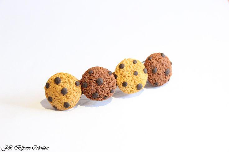 Barrette pince a cheveux cookies en fimo : Accessoires coiffure par jl-bijoux-creation