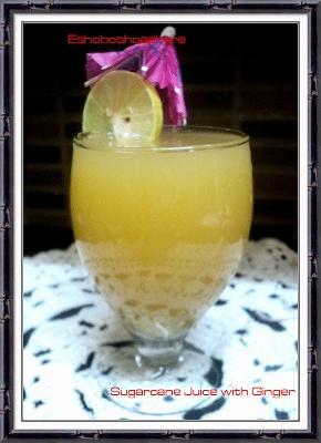 Gingerly Sugarcane Juice
