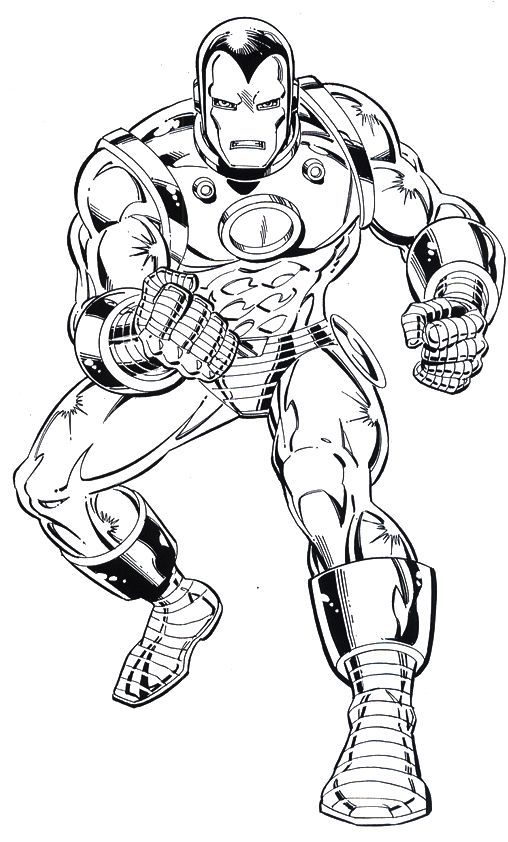 Iron Man Alert Coloring Page