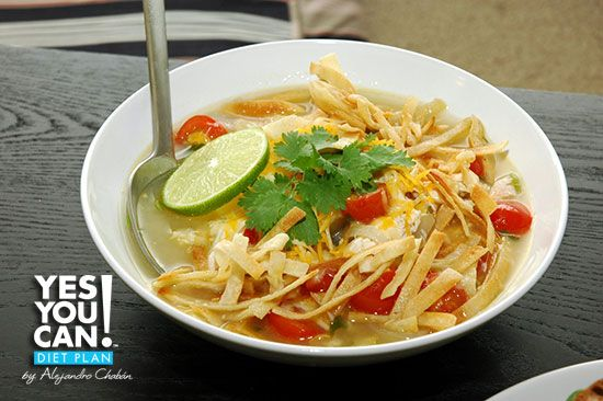 Tortilla Soup - A option for your Yes You Can! Diet Plan lunch