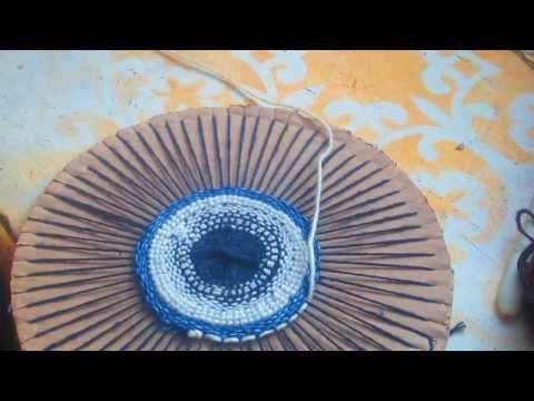 Гобелен на картоне . Плетение круга Часть 2 - YouTube