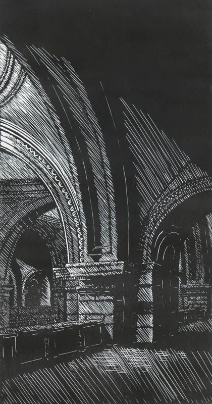 James Haggerty, Amaranthine Light - Linoleum Cut, 16 inches x 8 1/2 inches, 2007, Edition 20