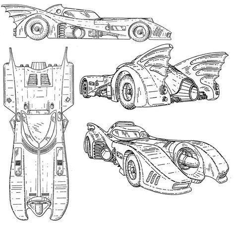 Coloring Pages Batman Car on lego sports car