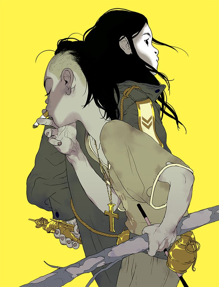 'The Divine' (Yellow Version) by Tomer Hanuka