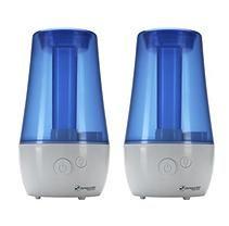 PureGuardian 1 gallon Ultrasonic Cool Mist Humidifier - 2 PACK