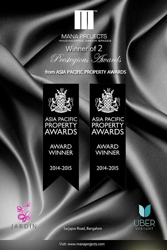 Two prestigious Awards from Asia Pacific Property Awards 2014- 2015  #Awards #AsiaPacificAwards #Awards2014 #ManaProjectPvtLtd #ManaCandela #UberVerdant #FlatsinBangalore #ApartmetnsinBangalore #SarjapurRoadFlats #SarjapurRoadApartments #Bangalore #BangaloreFlats #propertiesinBangalore #BangaloreProperties