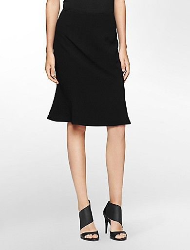 textured trumpet skirt | Calvin Klein