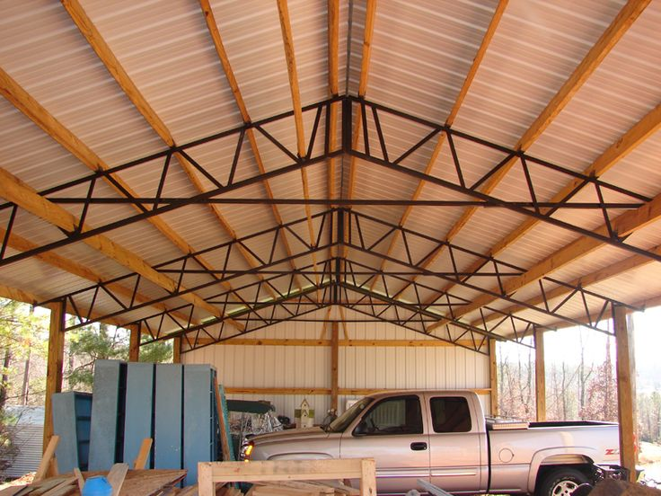 Ordinary Garage Pole Cover #6: Need Metal : 30 X 60 X 16 Rv Or Motorhome Cover Tall Pole Barn Steel  Trusses - $5,501.48 | DIY | Pinterest | Motorhome Covers, Steel Trusses And  Barn