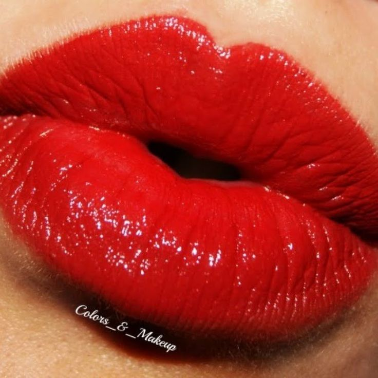 Sexy Red Lips by Livia G
