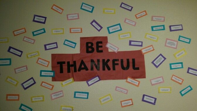 November RA passive program: Have residents tell what they are thankful for