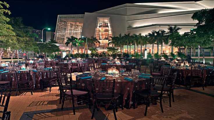 Let your event take center stage. As the cultural town square of Downtown Miami's arts and entertainment district, the Adrienne Arsht Center for the Performing Arts offers more than 60,000 square feet of indoor and outdoor event space.