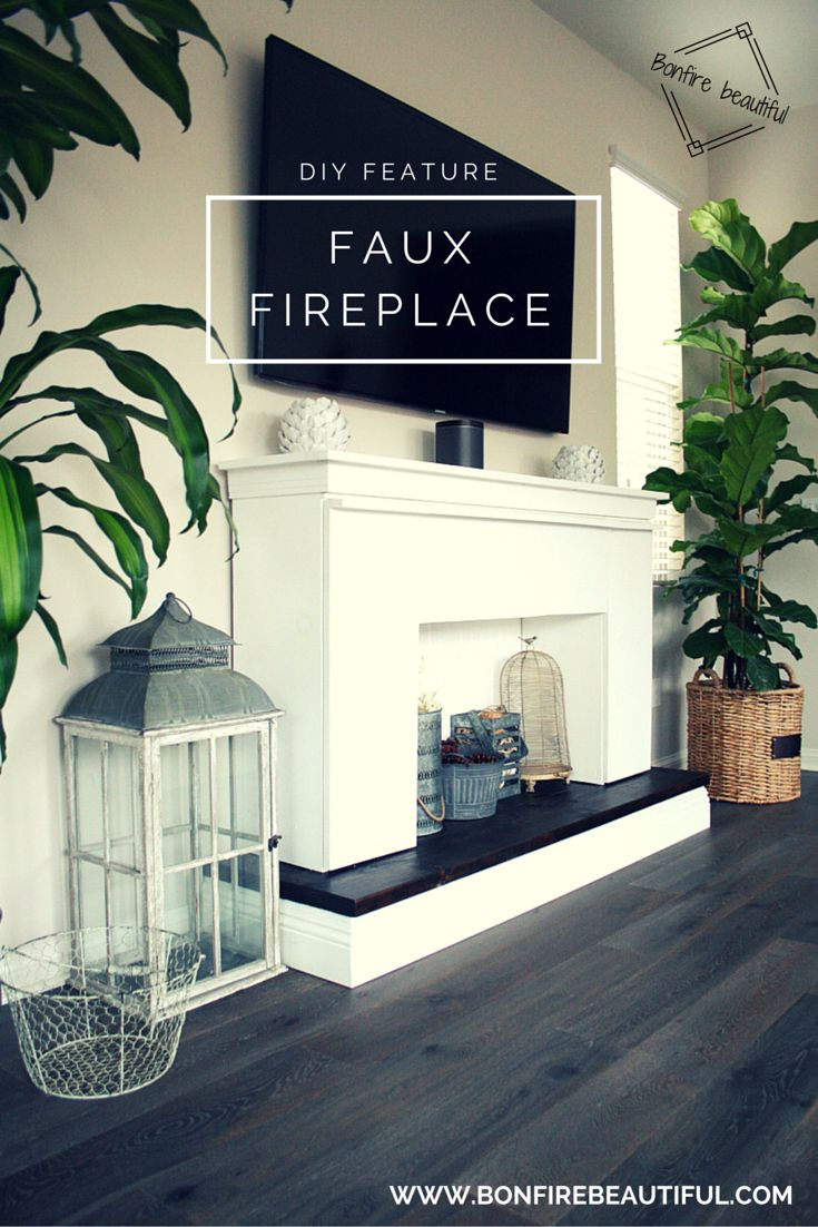 Make a faux fireplace faux fireplace mantel diy fireplace for Design your own fireplace
