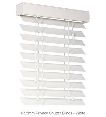 63.5mm Shutter Blinds - White #blinds