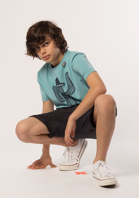 T-Shirt - Signature: Tide Short - Slouch: Indigo