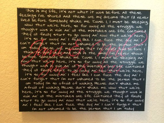 So Far Away by Staind song lyrics on canvas by ALLCanvasDreams