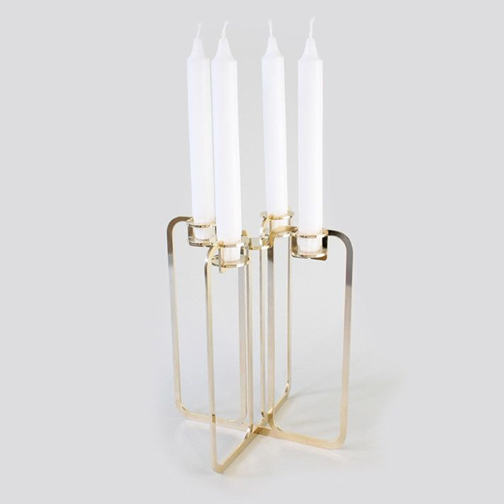 Quartet candelabra - Gold 24k from be&liv