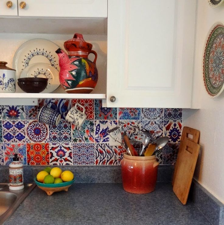 Bleucoin Tile Decal Backsplash. Turkish Kitchen DecorTurkish ...