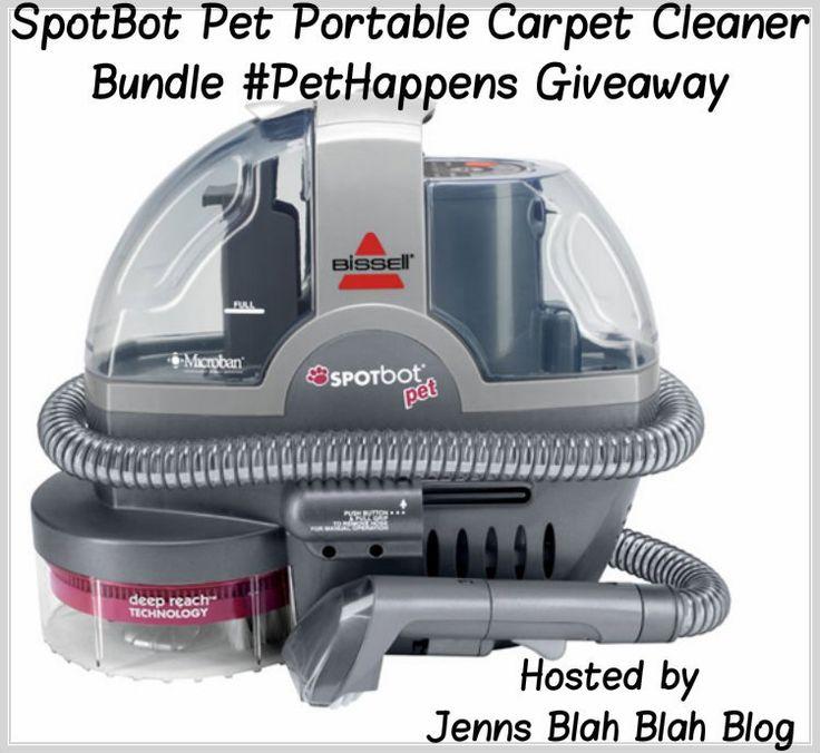 Win the amazing SpotBot Pet Portable Carpet Cleaner Bundle #PetHappens Giveaway
