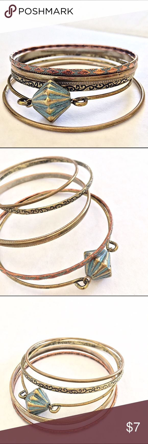 Free People Set of 5 Bangles//Bracelets Free People Set of 5 Bangles//Bracelets//Never Worn + Great Condition//Let me know if you need add'l info or pics✌ Free People Jewelry Bracelets