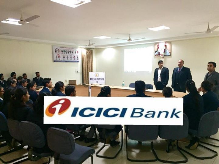 ICICI Bank conducted a campus placement drive for MBA Final year students on 27th December2016. Mr. Manoj Mehta (Regional Head) and Mr. Aman (HR Manager) from ICICI Bank shortlisted the students on the basis of GD & PI. #AIMTC #TOP #MBA #PLACEMENTS