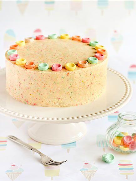 Sweet tartsCake Recipe, Kids Birthday, Candies Cake, Fruit Tingle, Child Birthday, Orange Cake, Cake Ice, Parties Cake, Layered Cake