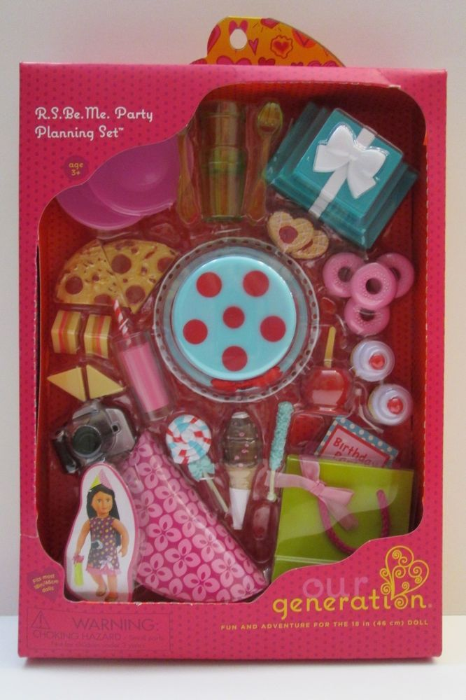 Our Generation R S Be Me Party Planning Accessory Set NIB ...