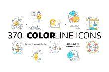 Ikony kolor linii