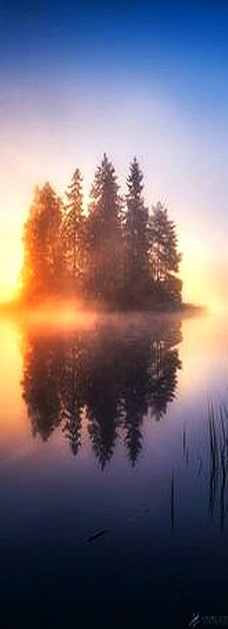 Perfect morning reflection #by Lauri Lohi
