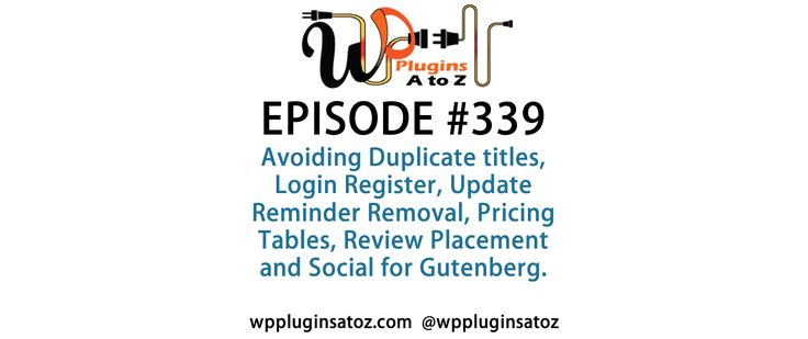 #WordPress #Plugins A to Z Episode 339 Avoiding Duplicate titles, Login Register - http://plugins.wpsupport.ca/wordpress-plugins-z-episode-339-avoiding-duplicate-titles-login-register/