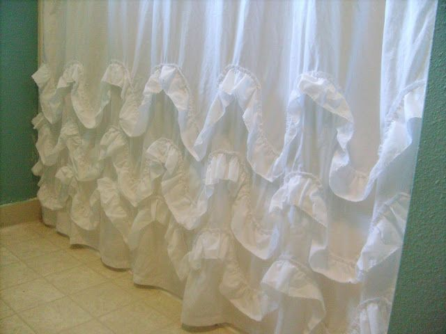 1000 ideas about diy curtains on pinterest diy curtain rods curtains and curtain rods - Waves of ruffles shower curtain ...