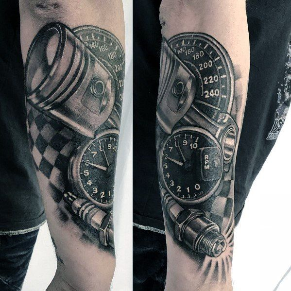 40 Checkered Flag Tattoo Ideas For Men Racing Designs In 2020 Flag Tattoo Mechanic Tattoo Tattoos