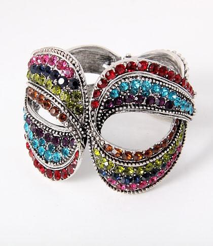 Multi-Color Rhinestone Bracelet