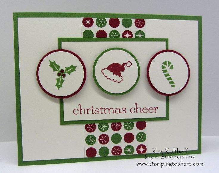 Stamping to Share.  Jolly Bingo Bits & Sweet Essentials stamp sets; Be Of Good Cheer designer series paper.