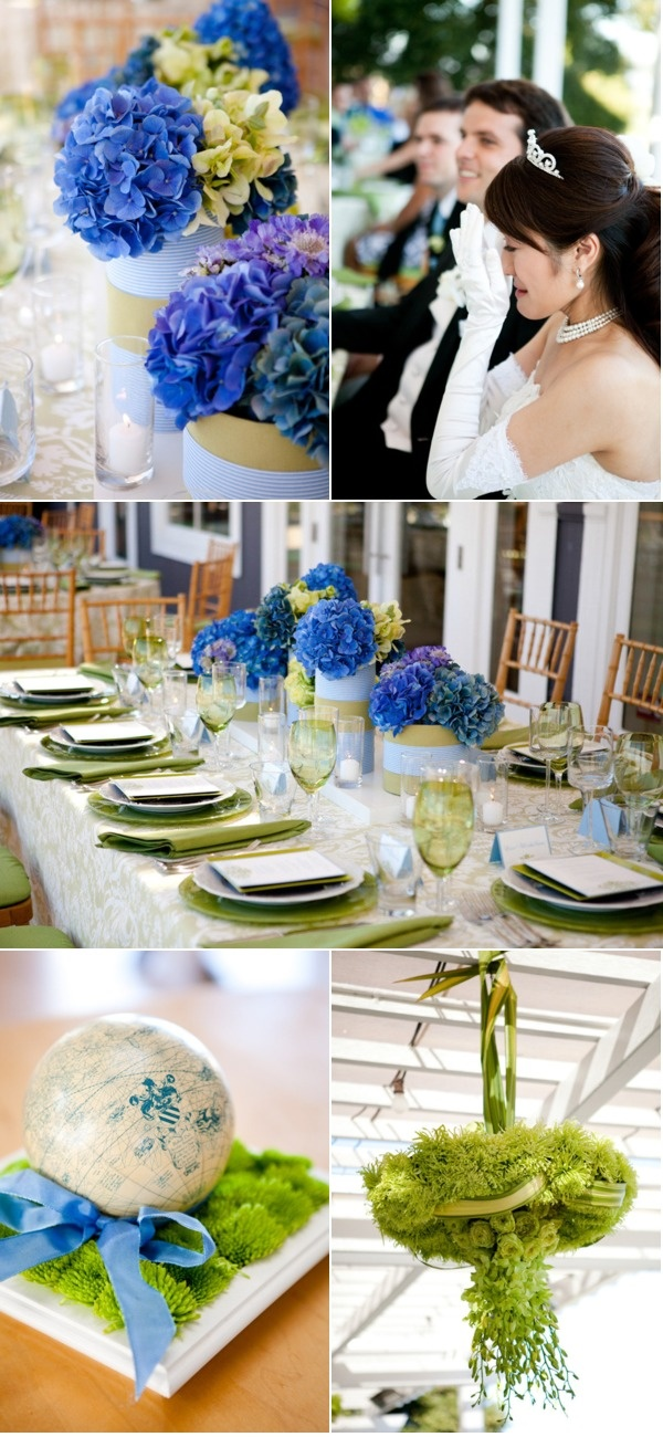 blue and green: Globes Thingi, Glasses, Blue Ld2015, Flowers Flowers, Blue Green, Buttons Mums, Mums Globes, Hydrangeas, Center Pieces