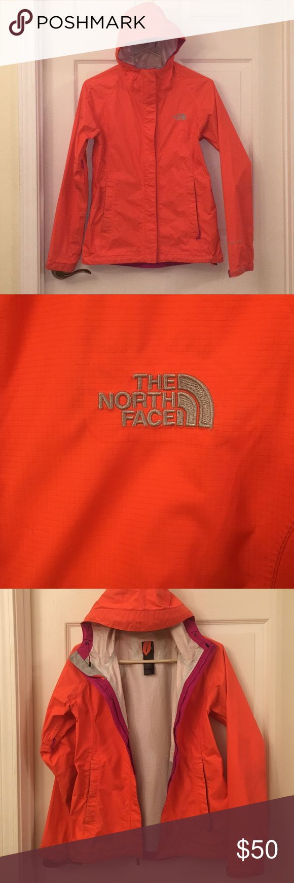Women's North Face Venture Jacket HyVent 2.5L This jacket is in extremely good condition, no holes or tears. Cute, bright color! Only worn a couple times! North Face Jackets & Coats