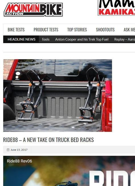 The RIDE88 Bike Rack is a perfect solution for bike riders who own trucks. There is no other truck bed rack like it on the market.