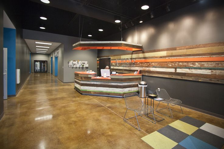 Reception desk at Athens Church - Athens, GA (designed by a partner at Equip Studio while at a previous firm).