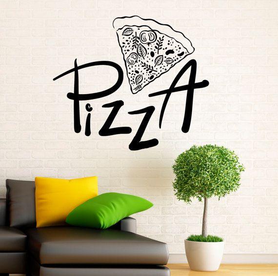 Best Pizzeria Pizza Stickers Decals Images On Pinterest - Vinyl stickers design