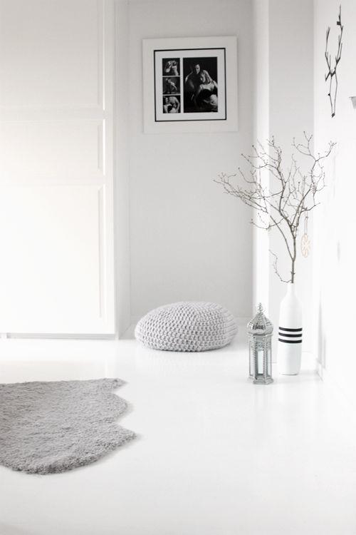 White floors ikea sheepskin