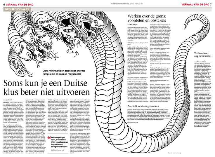 Illustration Gezienus Bruining, art direction Erik Gigengack. © De Twentsche Courant Tubantia