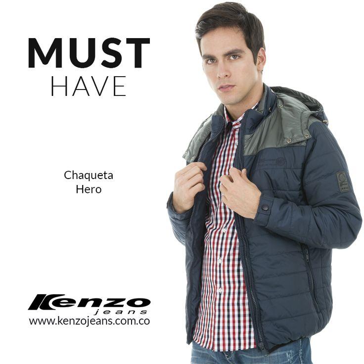 Una chaqueta masculina con un diseño vanguardista y funcional es ideal para cada ocasión. #KenzoJeans más en www.kenzojeans.com.co