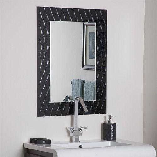 Strands Modern Frameless Mirror