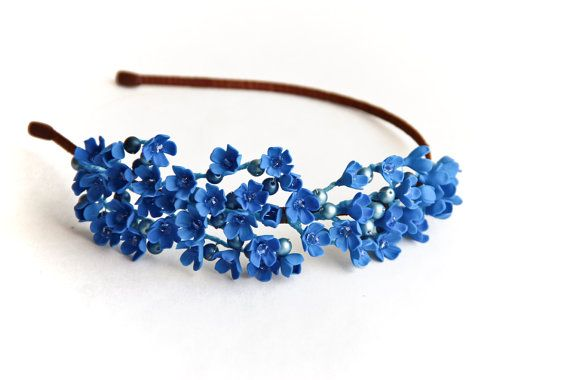 Blue flower hair accessory hair accessories от JewelryFloren